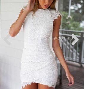 NWOT white lace dress